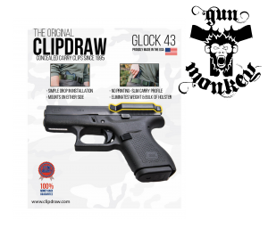 Klips zaczep do paska na pistolet Glock Clipdraw Pro do Glock 43