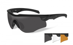 Okulary WileyX Rogue COMM Grey / Clear /Light Rust Lens / Matte Black Frame 2852
