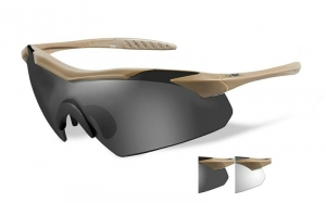 Okulary WileyX Vapor Grey / Clear Lens / Tan Frame 3511