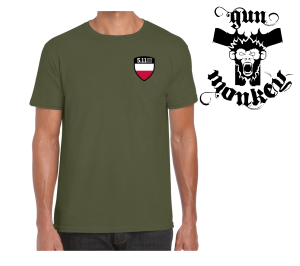 T-Shirt 5.11 SHIELD S/S TEE POLAND kol. 225:Military Grn  (41268)