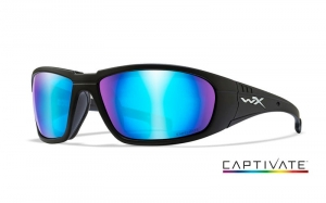 Okulary WileyX BOSS Captivate Blue Mirror Matte Black Frame CCBOS09