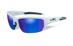 Okulary WileyX Saint Polarized Blue Mirror Gloss White Frame CHSAI09