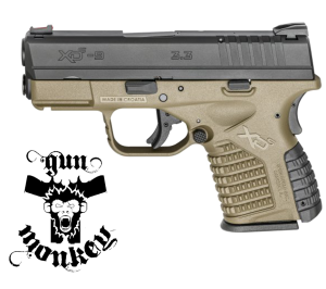 "Pistolet XDS 3,3 "" 9mm Piaskowy"