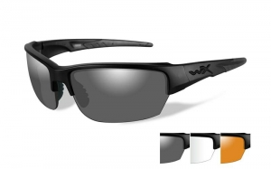 Okulary WileyX Saint Grey Clear/Light Rust Matte Black Frame CHSAI06