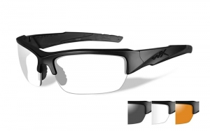 Okulary WileyX VALOR Clear/Grey/Light Rust Lens /  Matte Black Frame CHVAL06