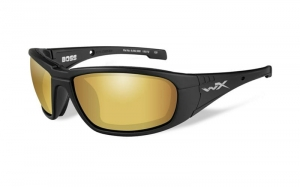 Okulary WileyX BOSS Polarized Amber Gold Mirror Lens / Matte Black Frame CCBOS04